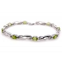 Genuine Peridot sterling silver bracelets