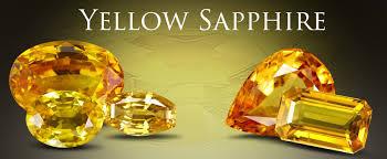 Genuine yellow sapphire gemstone jewelry